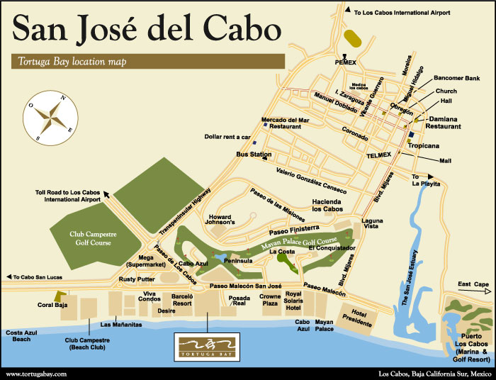 Tortuga San Jose del Cabo Map to Tortuga Bay